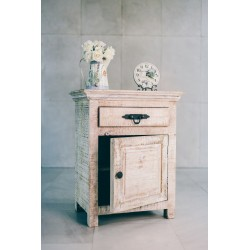 WHITEWASH BEDSIDE TABLE