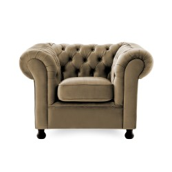 Křeslo Chesterfield Taupe