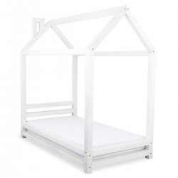 HAPPY BED IN THE SHAPE OF A HOUSE - WHITE LACQUER