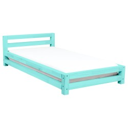 SINGLE SINGLE BED - TURQUOISE LACQUER