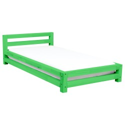 SINGLE SINGLE BED - GREEN LACQUER