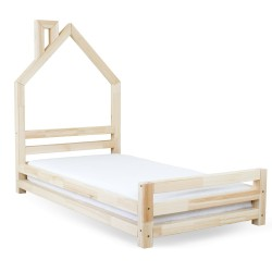 WALLY BED IN THE SHAPE OF A HOUSE - NATURAL DECOR PINE