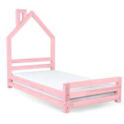HOUSE-SHAPED WALLY BED - PINK VARNISH