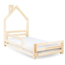 WALLY BED IN THE SHAPE OF A HOUSE - TRANSPARENT LACQUER