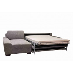 MIAMI - 3 SEATER CORNER SOFA BED with mattress 165 cm and with storage space
