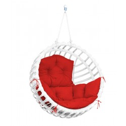 ELIS CHAIR WHITE - RED PILLOW