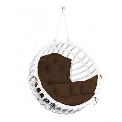 ELIS CHAIR WHITE - BROWN PILLOW
