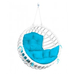 ELIS CHAIR WHITE - BLUE PILLOW
