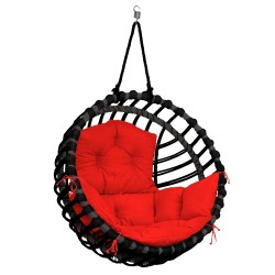 ELIS CHAIR BLACK - RED PILLOW