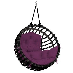ELIS CHAIR BLACK - PURPLE PILLOW