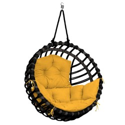 ELIS CHAIR BLACK - MUSTARD PILLOW