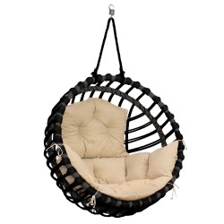 ELIS CHAIR BLACK - CREAM PILLOW