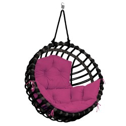 ELIS CHAIR BLACK - PINK PILLOW