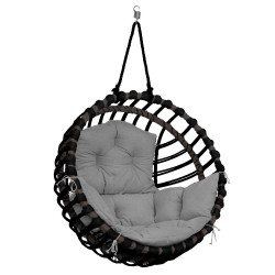 ELIS CHAIR BLACK - GRAY PILLOW