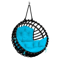 ELIS CHAIR BLACK - LIGHT BLUE PILLOW