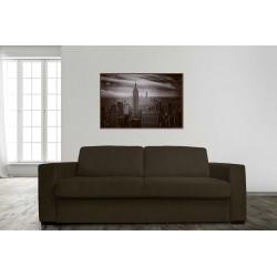 STELA - DIVANO A 2,5 POSTI LETTO con materasso 145 cm (MARRONE)